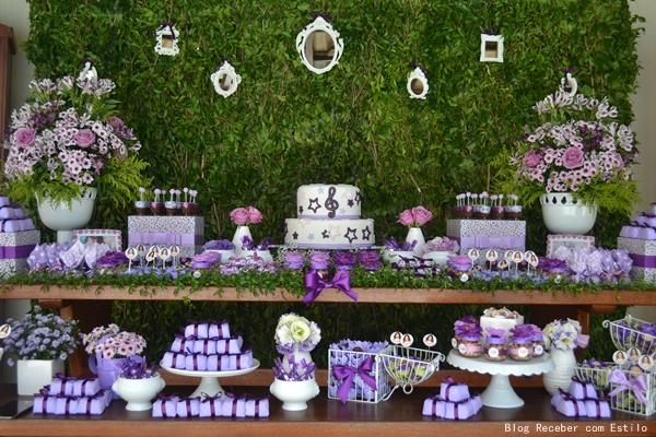 decoracao festa violeta:Festa Aniversario De Violetta